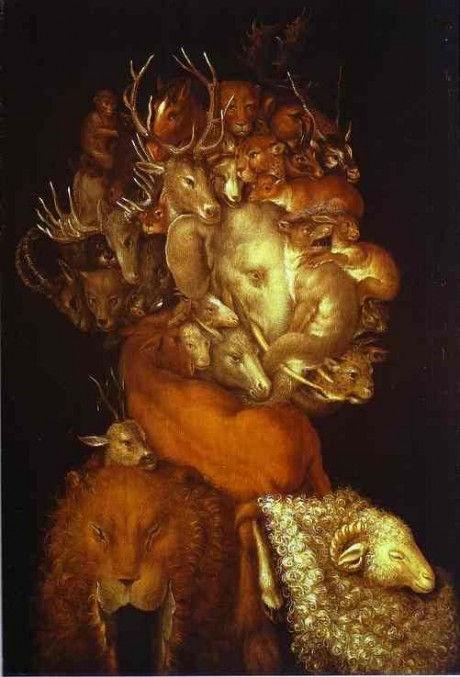 стихия земля арчимбольдо фигуры звери лицо портрет классическая живопись арт уроки пособие поэтапно как рисовать видеоуроки алексей жуков