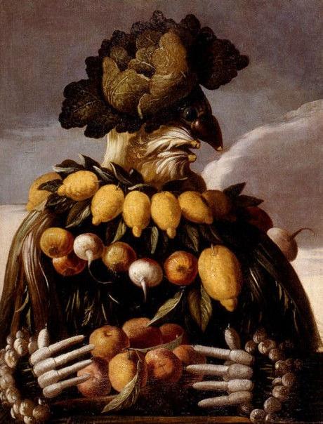 сезоны времена года арчимбольдо куда пойти рисовать в петербурге портрет  натюрморт фрукты овощи сюр дали живопись 18 века течения в искусстве направления искусствоведение арт алексей жуков курсы живописи в.о. лофт