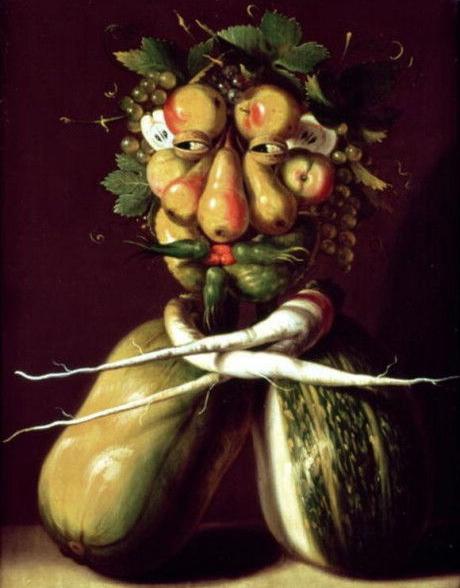 whimsical-portrait овощи фрукты портрет натюрморт барокко классицизм великие художники модерн росписи портрет на заказ ар нуво сюрреализм дали