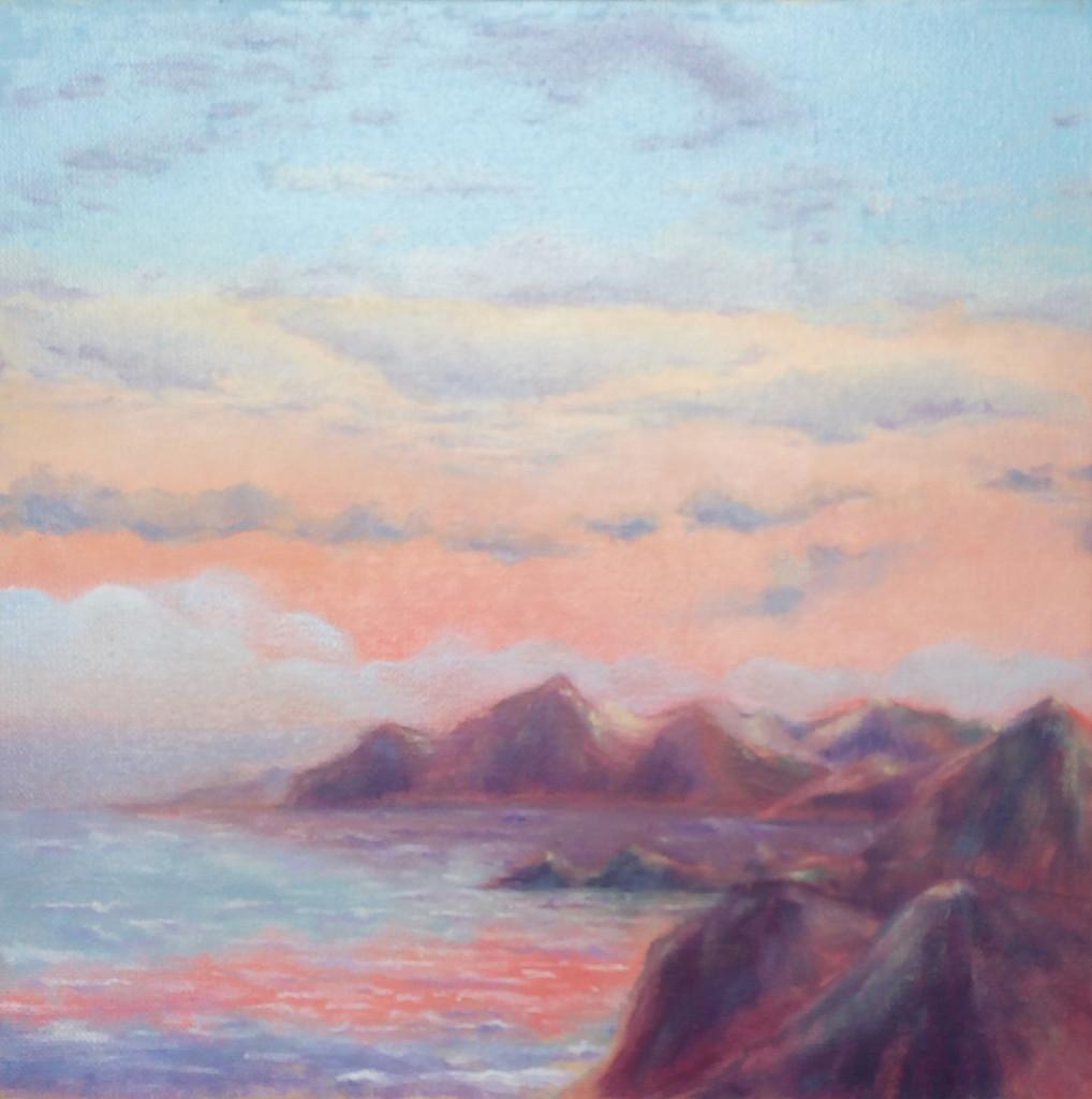 небо море горы закат туман облака вода как рисовать обучение мастер-класс импрессионизм старые мастера классическая школа искусство живопись рисование курсы живописи