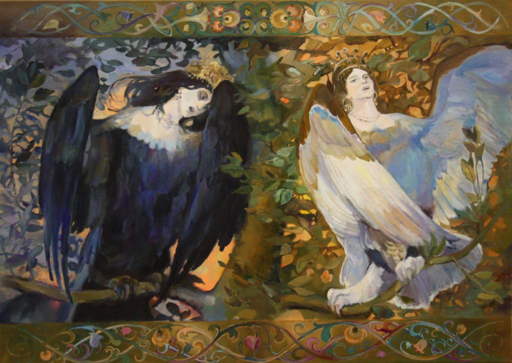 васнецов копия два ангела передвижники русская живопись 19 век 20 век классическое искусство барокко рококо модерн ар нуво эклектика ар деко авангард как рисовать фигуры пособие видеоуроки
