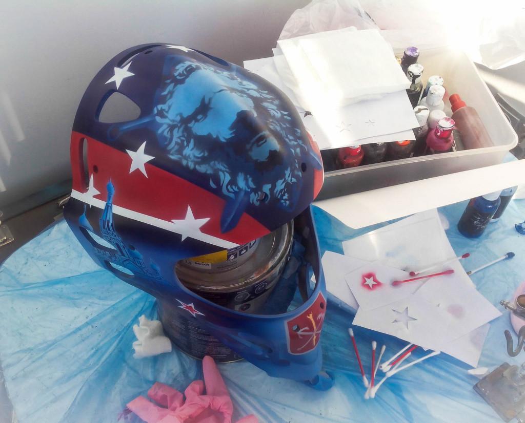 хоккейный вратарский шлем где расписать выбрать рисунок для шлема эскиз сколько стоит роспись шлема в спб