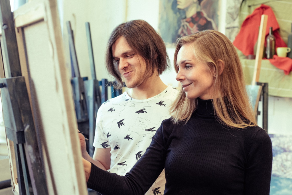 курсы живописи арт студия рисование для начинающих нарисовать картину в подарок васильевский спб отзывы цены арт-корпоративы персональное обучение