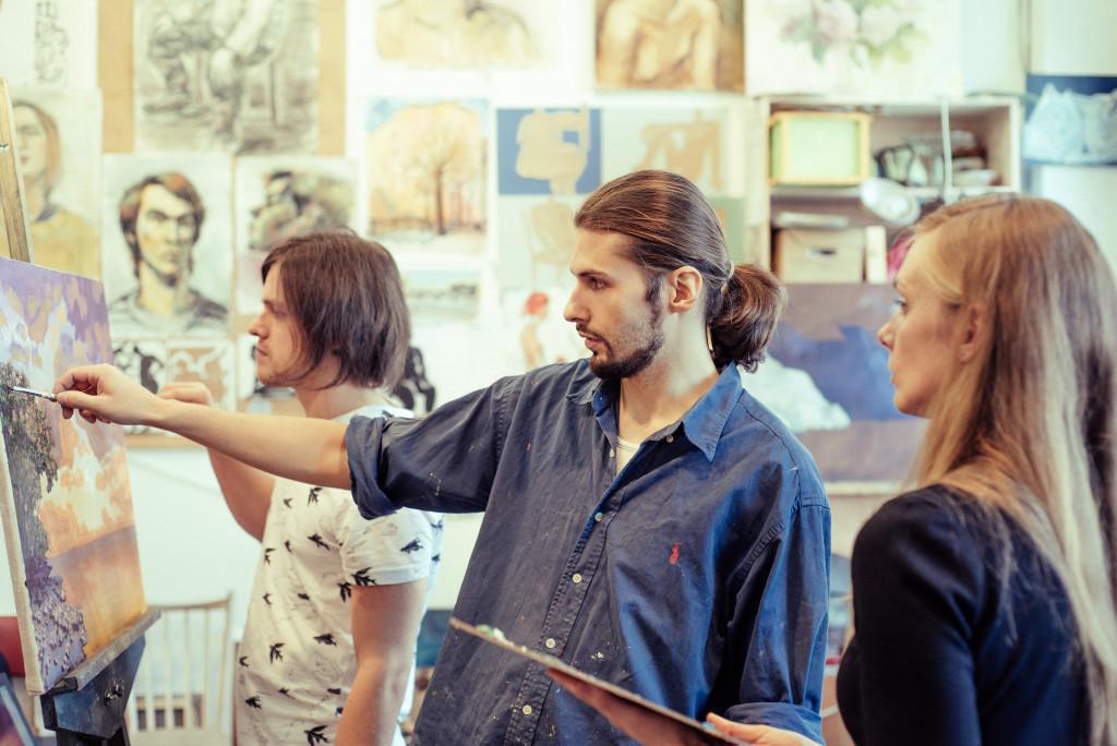 уроки живописи вдохновение индивидуальные занятия курсы арт-студия творческая атмосфера спб петербург васильевский остров артмуза алексей жуков