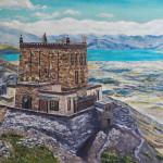#Тибет #горы #монастырь #буддизм #магическаяживопись #мистика #просторы #пейзажкартина #живописьмаслом