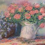 #розы #полевыецветы #натюрмортсцветами #корзинасцветами #импрессионизм #купитьживописьмаслом