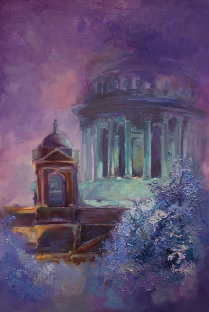 исаакиевский собор спб картина маслом стильная живопись современное искусство творчество обучение арт-курсы рисование для начинающих