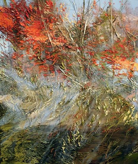 красный болотный голубой сиреневый сочная картина лессировки старые мастера художники реализм импрессионизм научиться рисовать написать свою картину маслом студия живописи алексей жуков артмуза лофт васька