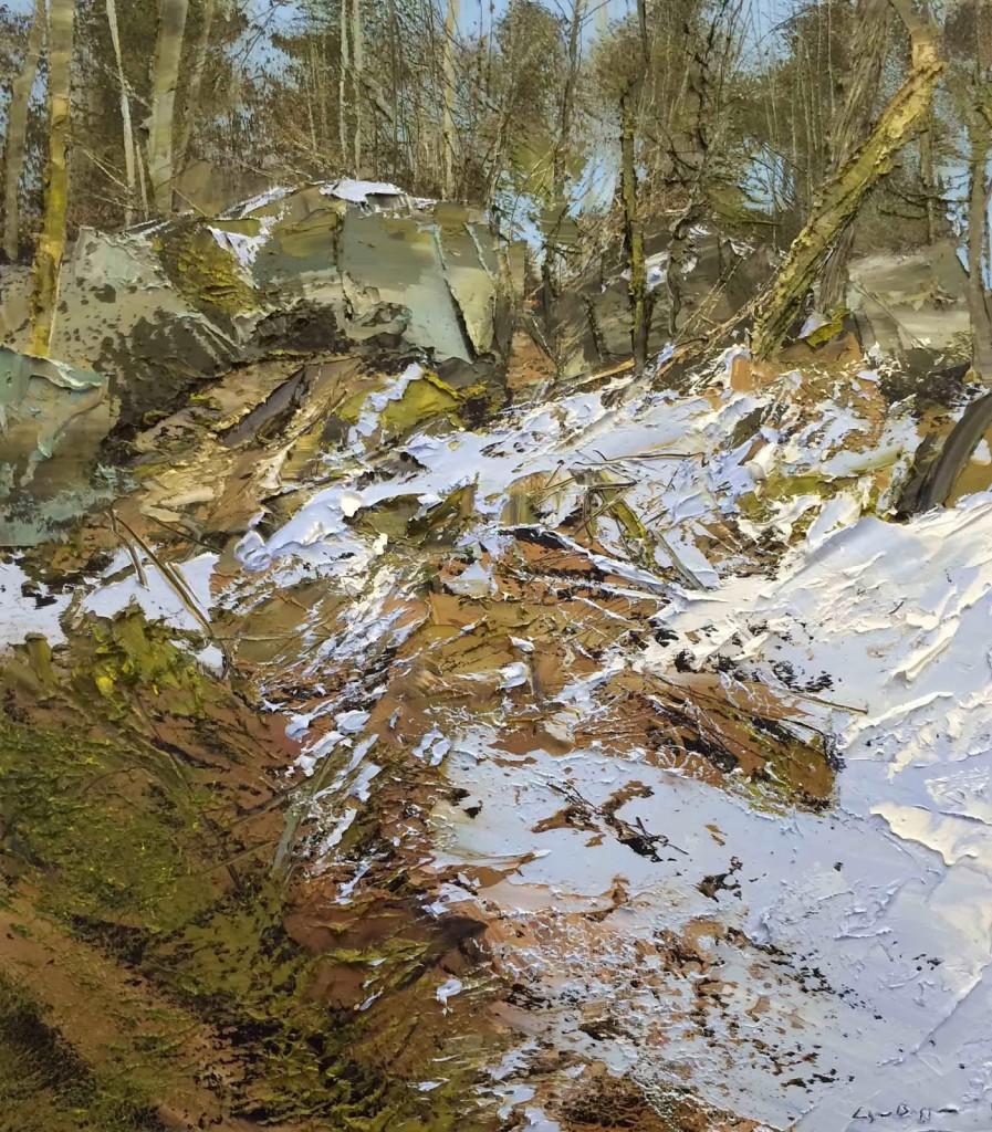 как рисовать снег горы камни деревья мох траву лес пособие поэтапно обьяснение обучение арт школа курсы живописи лофт галерея музей отзывы цены как добраться центр города спб