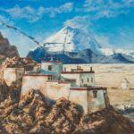 #горы #кайлас #тибет #картина #живопись #буддизм #оригинальныекартины #мистическаяживопись #небо #простор #высокогорье #молитвенныефлажки #купитьживопись