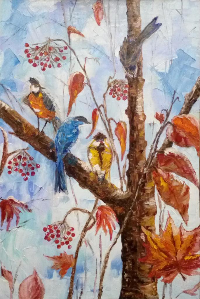 птицы курсы живописи как рисовать зверей птиц зимняя картина арт-корпоративы видеоуроки самая уютная душевная студия города мастер-классы индивидуальные занятия персональное обучение картина маслом на заказ портрет по фото росписи аэрография курсы живописи