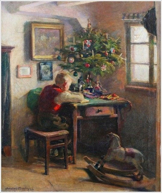 Andreas Bach (German, born 1886) «Christmas morning»