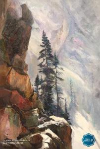портфолио отзывы наша арт студия набор художественных материалов горный пейзаж деревья живопись маслом видеоуроки пособие