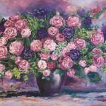 #букет #цветы #картина #живописькупитьспб #розы #пастельныетона #импрессионизм #интерьернаяживопись