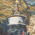 #тибет #непал #горы #буддизм #рерих #живописьмаслом #пейзаж