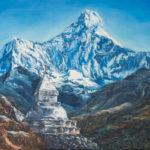 #тибет #буддизм #ступа #горы #природа #пейзаж #эзотерика #современнаяживопись